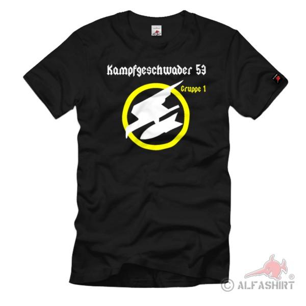 Kampfgeschwader 53 Flugzeug Luftwaffe Luftanschlag Luftflotte Fliegerkorps - T Shirt #1081