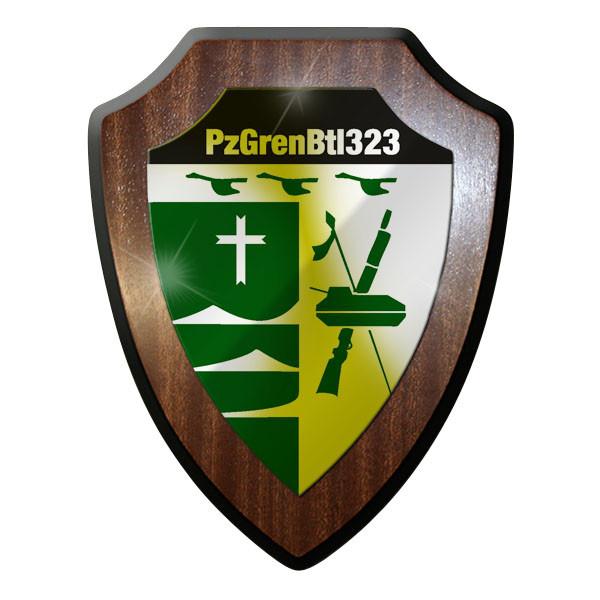 Wappenschild - Panzergrenadierbataillon 323 Panzergrenadiere Bund Bw Wappen#8857