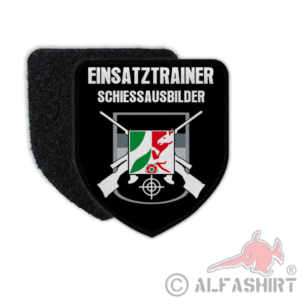Patch coat of arms police justice North Rhine-Westphalia operational trainer 75 x 65 # 36207