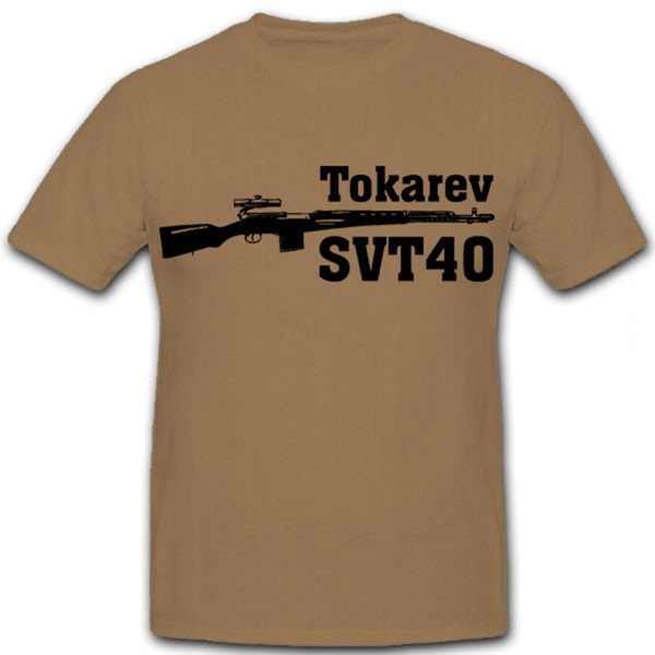 Tokarev SVT40 Tokarev CBT 40 Rifle Russia Red Army SWT-40 T Shirt # 12413