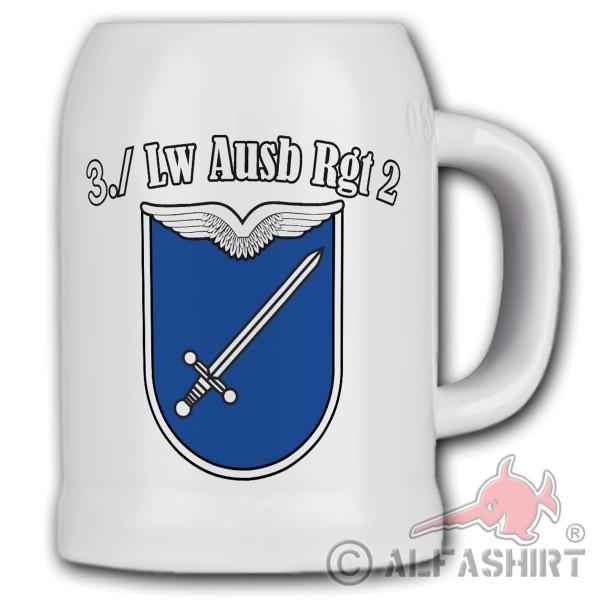Beer mug 4Kp GebPzArtBtl 225 coat of arms armored artillery Bundeswehr BW # 35189