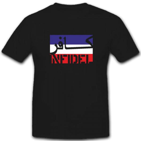Infidel-Serbien Montenegro Infidel ungläubiger ISAF Anti Terror - T Shirt #7595