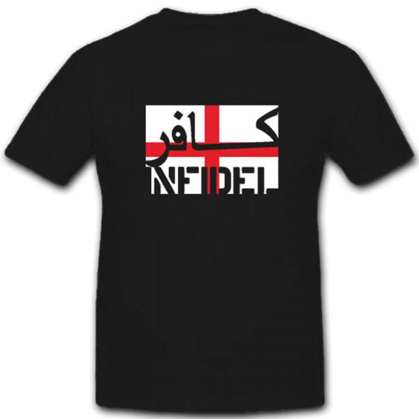 England Infidel ungläubiger ISAF Anti Terror Kämpfer Fahne Flagge- T Shirt #7599