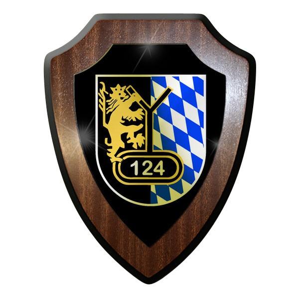 Wappenschild / Wandschild - Panzerbataillon 124 PzBtl Bundeswehr BW #9050