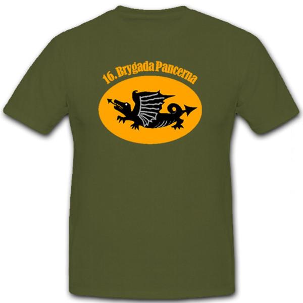 16 Brygada Pancerna Panzer Brigade polnische Armee Wappen - T Shirt #12455
