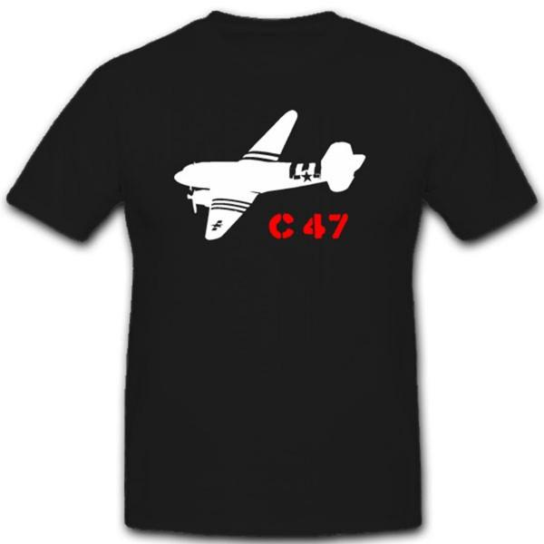Militär Flugzeug C-47 Rosinenbomber Transport England Amerika - T Shirt #1995