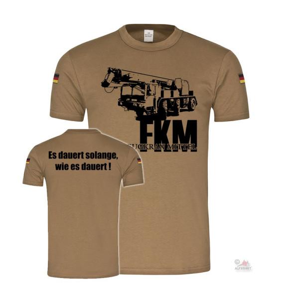 BW Tropen FKM Kran Fahrzeugkrahn Mittel Bundeswehr Pionier Einsatz T-Shirt#36913
