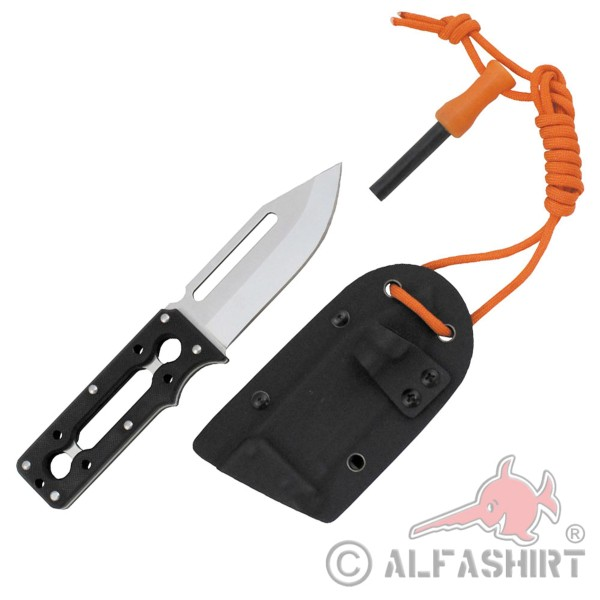 Survival Messer G-10 Outdoor Feuerstarter Feuer Stahl Stein Kydex #37331