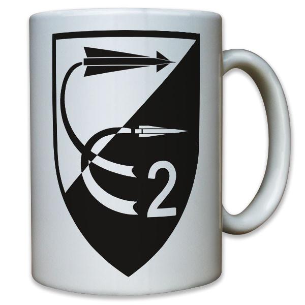 FlaRakRgt 2 Flugabwehrraketen Regiment Bundeswehr Bund Wappen - Tasse #11771