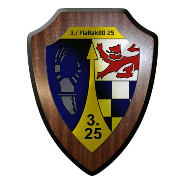 Wappenschild - 3 FlaRak 25 Bundeswehr Flugabwehr Raketen 3-25 Abzeichen #12421