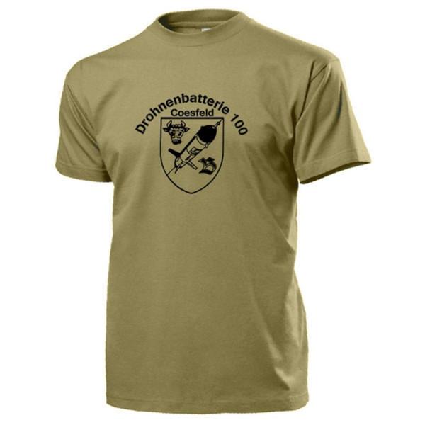Drohnenbatterie 100 Bundeswehr Wappen Abzeichen Emblem DroBattr - T Shirt #13728