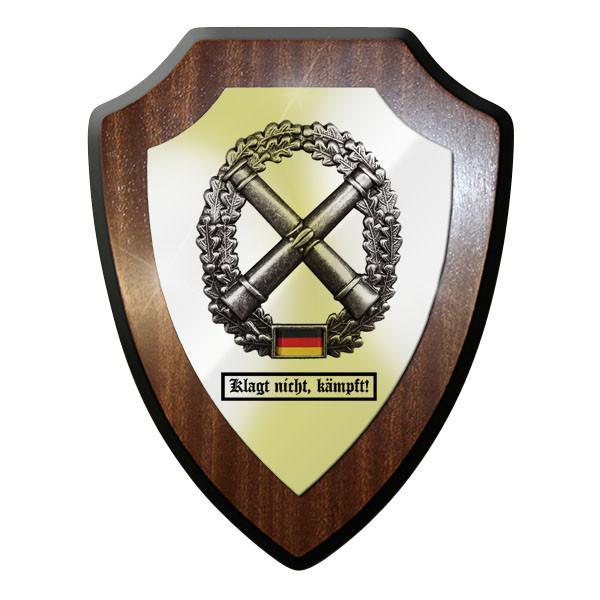 Wappenschild / Wandschild - Artillerie Klagt nicht, kämpft! Kanonen - #11749