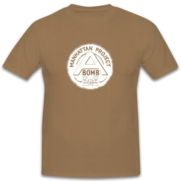 Manhattan Project A-Bomb Los Alamos Inofficial Badge- T Shirt #12258