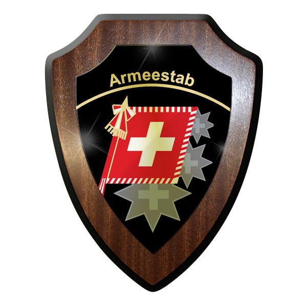 Wappenschild - Chef Armeestab C A Stab Schweizer Armee Emblem Abzeichen #11924