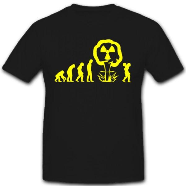 Atom Evolution Kraftwerk vom Affen zum zweiköpfigen Menschen T Shirt #2358