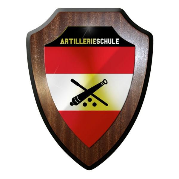 Wappenschild - Artillerieschule Artillerie Haubitze Kanone Soldaten #10077