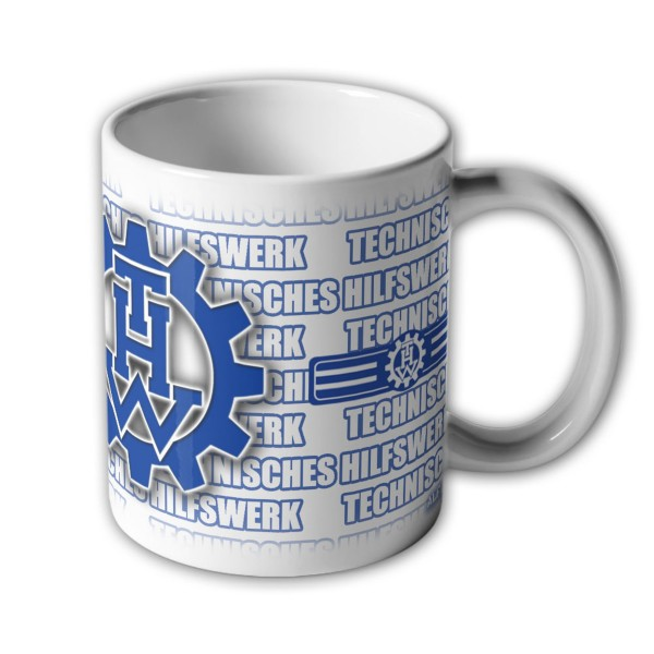 Mug of THW Office Clerk Service Technical Relief Instructor # 33586
