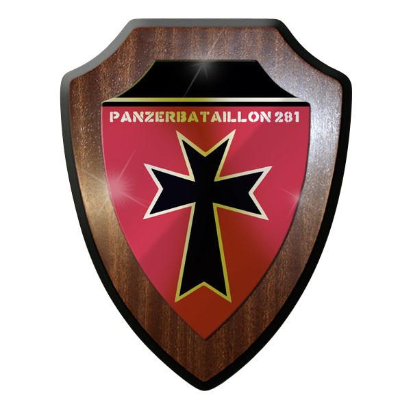 Wappenschild / Wandschild / Wappen - Panzerbataillon Bataillon Panzer 281 #8802