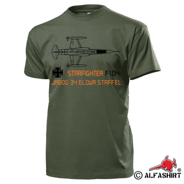JaboG 34 EloWa Stff F104 Starfighter Air Force Fighter Bomber - T Shirt # 15565