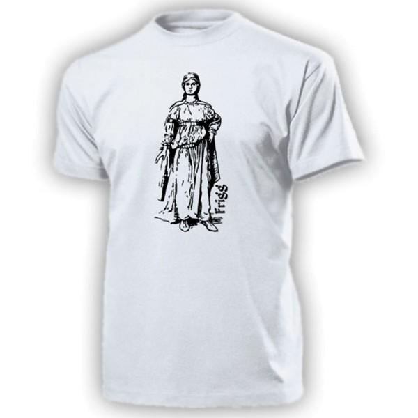 nordische Göttin Frigg Germanen Frea Freya Frau von Odin Asen - T Shirt #14159