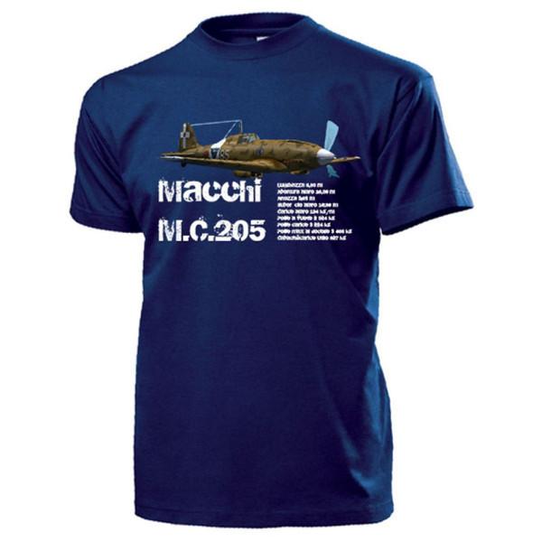 Macchi MC205 italienisches Jagdflugzeug WK 2 Flugzeug Veltro - T Shirt #13767