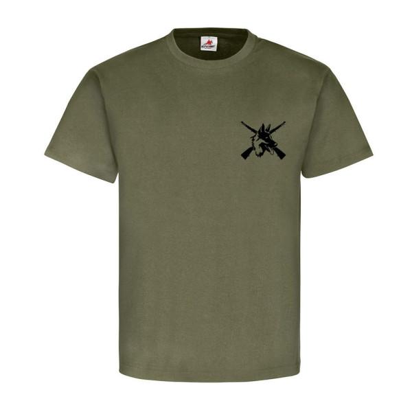 Heimatschutz Schäferhund DSH 98K Gewehr Karabiner Wachhund - T Shirt #8249