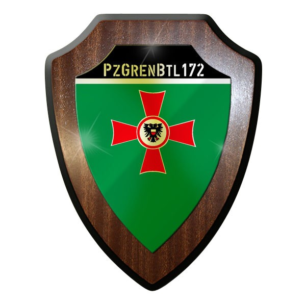 Wappenschild - Panzergrenadierbataillon 172 PzGrenBtl Bundeswehr #9003