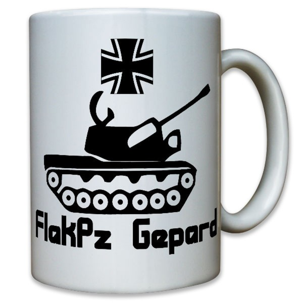 FlaKPz Flugabwehrkanonenpanzer Flugabwehr Kanone Gepard Bundeswehr - Tasse #9114