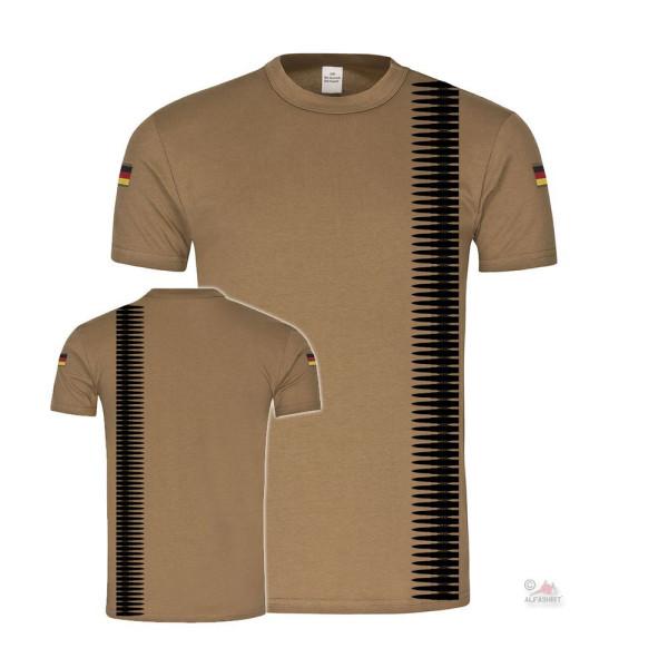 BW Tropen MG Patronen-Gurt 7,62 x 51mm Bundeswehr Deko Nato T-Shirt #36300