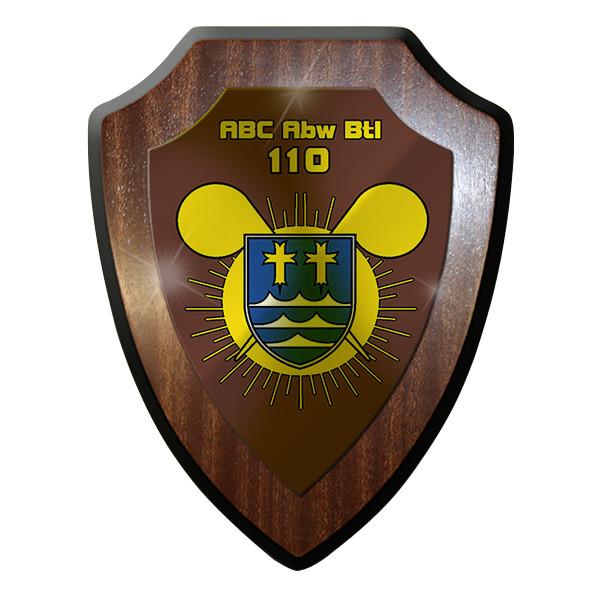 Wappenschild / Wandschild -ABC Abw Btl 110 Wappen Bundeswehr Atom Nuklear #11060