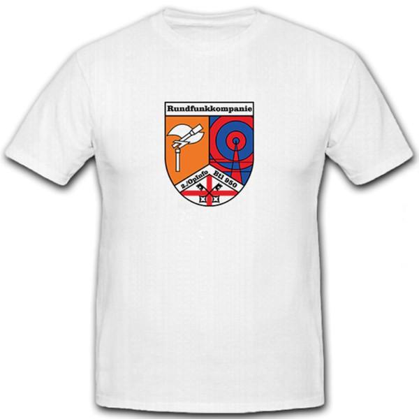 2. Opinfobtl Bundeswehr Andernach Wappen Abzeichen Operative - T Shirt #5782