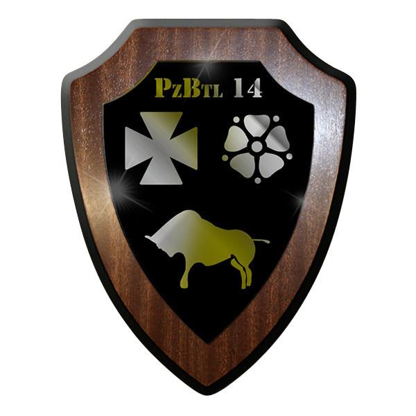 Wappenschild - PzBtl 14 Bundeswehr Panzer Bataillon Wappen Abzeichen - #10407