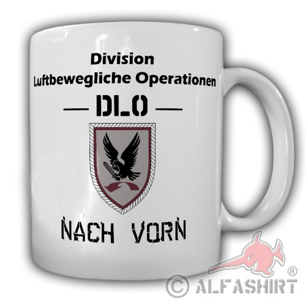 DLO Division Air Mobile Operations Forward BW Coat of Arms Cup Mug # 18132