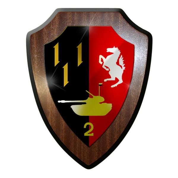 Wappenschild -PzBtl 2 Panzerbataillon Panzer Bataillon 2 1956-1959 #12164