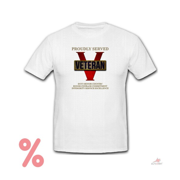 SALE Shirt Proudly Served Veteran USA Army Military Duty Honor T-Shirt #R326