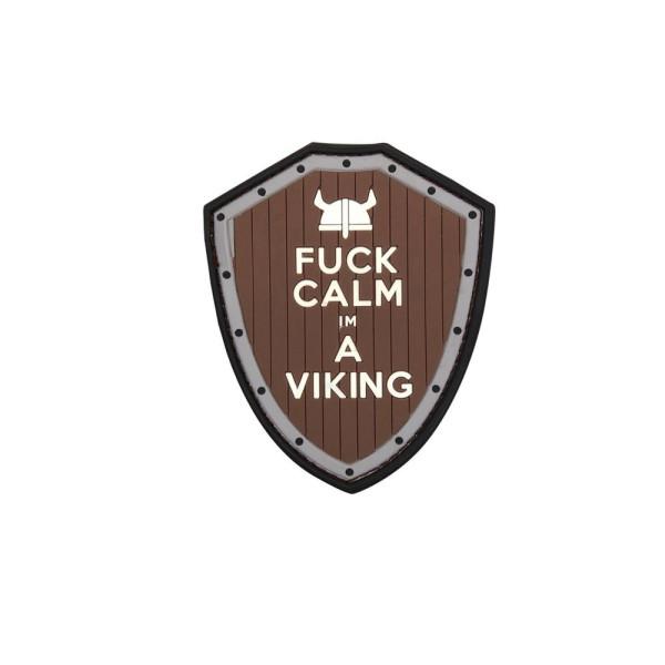 Wikinger Patch 3D Rubber Fuck Calm Viking Schild Krieger Odin Wotan Thor #22989
