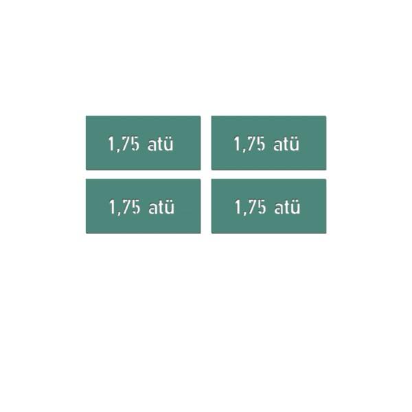 Lackierschablonenaufkleber Reifendruck Luftdruck Krad 4x 1,7x6,5cm A5565