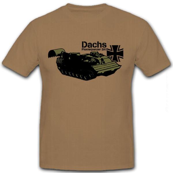 Dachs Pionierpanzer 2A1 Panzer Kampfunterstützungsfahrzeug Bw - T Shirt #8649
