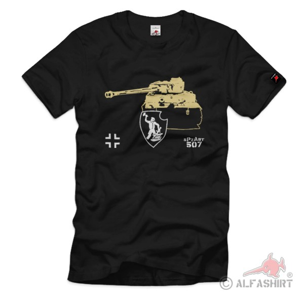 heavy tank division sPzAbt 507 tracked vehicle battalion - T Shirt # 1304