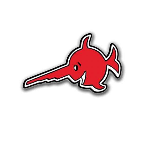 Aufkleber/Sticker Alfashirt Sägefisch U Boot 96 Logo Schwertfisch 7x4cm #A676