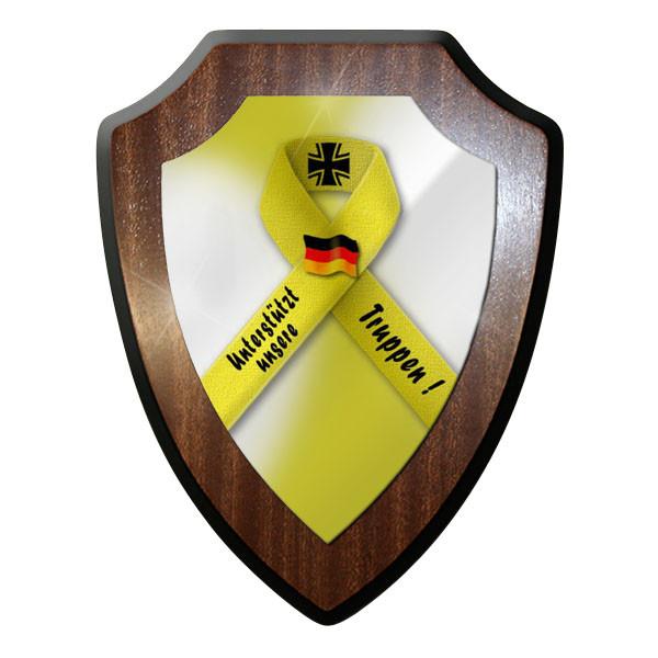 Wappenschild - Gelbe Schleife Solidarität Bundeswehr Bw #10015
