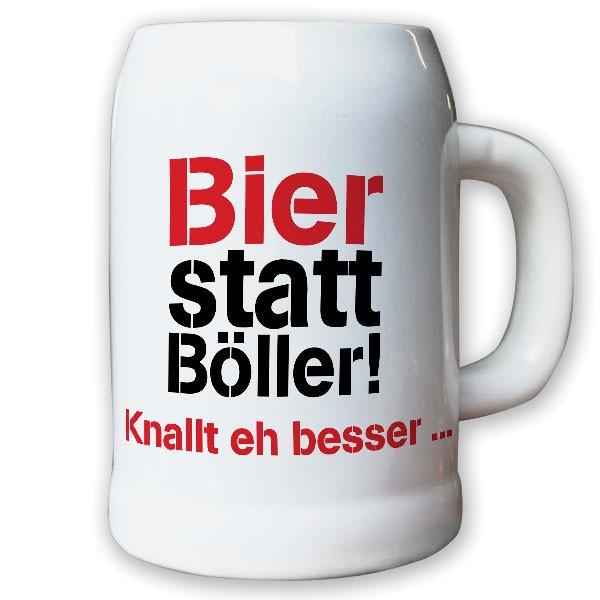 Bier Böller Ballern Knallen Silvester Party Spaß - Krug / Bierkrug 0,5l #10638