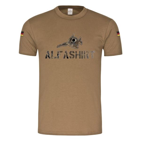 Alfashirt Rost Beschuss Style BW Bundeswehr Shirt Rost Einschüsse #22074