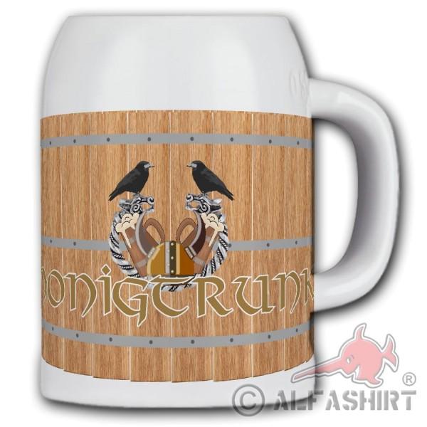 Honey drink beer mug Warrior Met beer Middle Ages Vikings Vikings Germanic # 36362