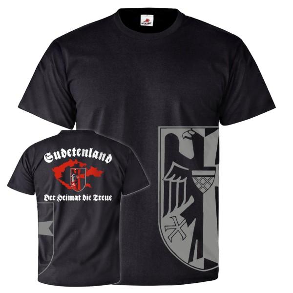 Sudetenland Der Heimat die Treue Sudeten Karte Wappen Familie T Shirt #26108
