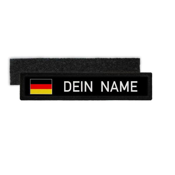 Deutschland Namenschild Patch mit Namen Bundeswehr Polizei Feuerwehr DEU #32321