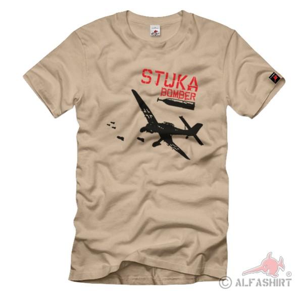 Stuka Bomber Flieger Sturzkampflugzeug Sturbomber T-Shirt #1174