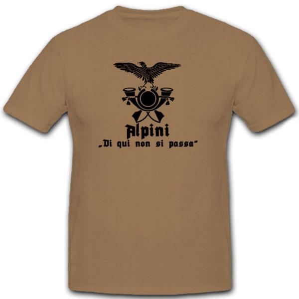 Fregio alpini Wappen Abzeichen Emblem Adler Gebirgsjäger - T Shirt #12297