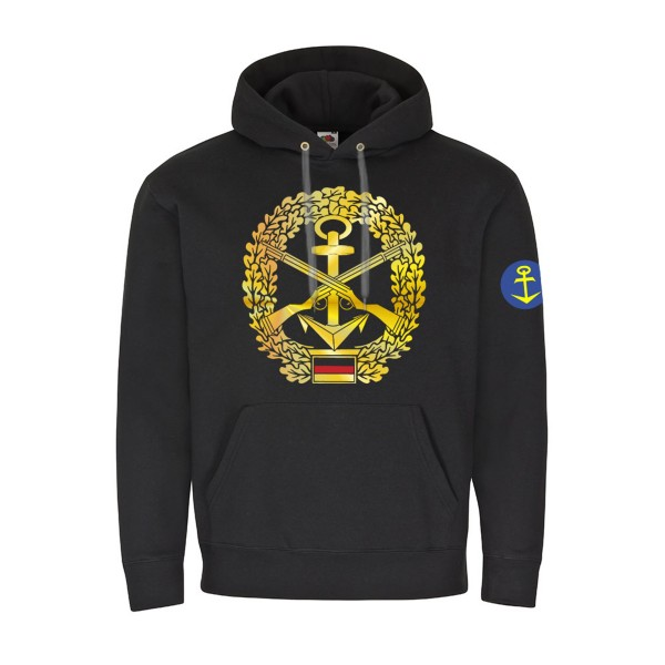 Hoodie Marinesicherung Verwendungsreihe 76 Bundesmarine Seebataillon #22339