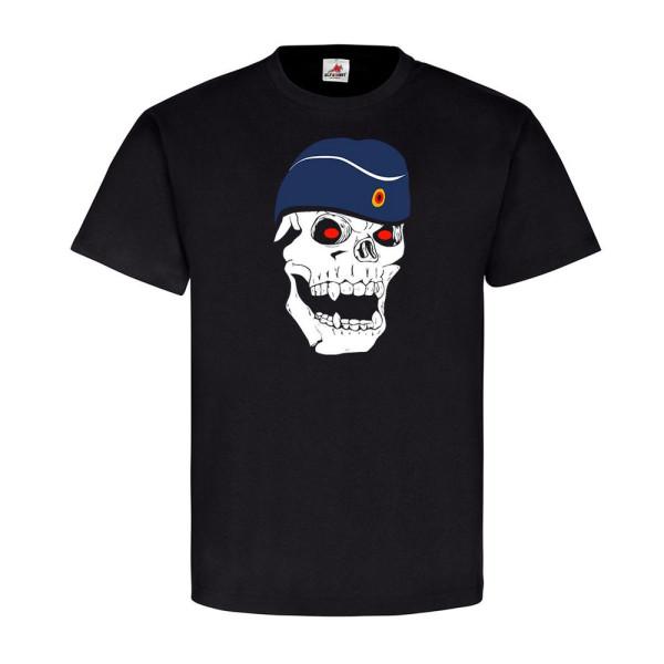 deutscher Luftwaffensoldat Soldat Luftwaffe Schiffchen Skull - T Shirt #5609